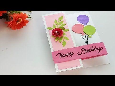 Diy Pop Up Card For Birthday Birthday Day Card Tutorial Youtube Card Tutorial Happy Birthday Art Cards Handmade