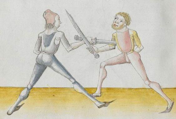 Lecküchner, Hans: Kunst des Messerfechtens Nordbayern, 1482 Cgm 582 Folio 122