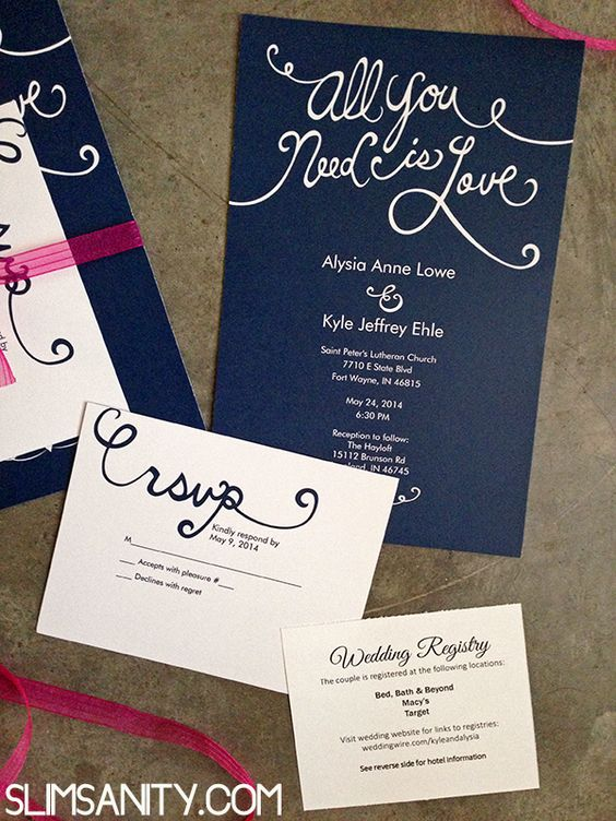 Affordable Wedding Invitations from Vistaprint - Slim Sanity