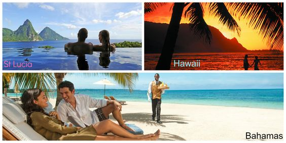 You tell us... St Lucia, Hawaii or the Bahamas ... or somewhere else? What destination do you feel is the most romantic?