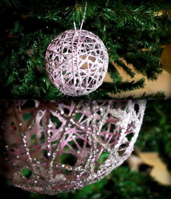 Bolas de navidad hoy traemos otra sencilla pero a la vez for Decoracion navidena