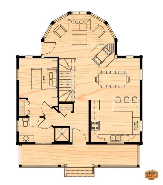 The Two Storey True North Log Homes Log Homes House Floor Plans House Plans