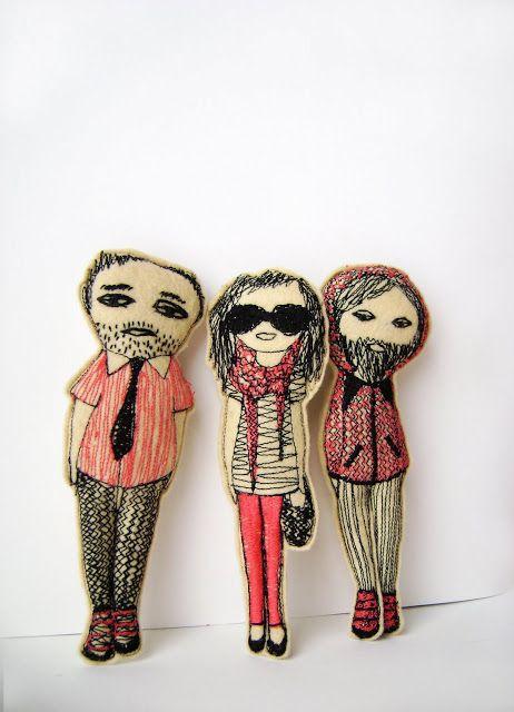 LOOK! hipster voodoo dolls