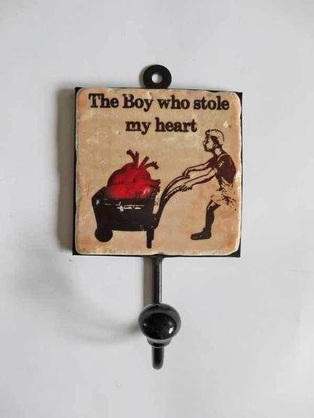 """Garderobe Haken """"the Boy who stole my heart"""" von Henri Banks auf DaWanda.com"""