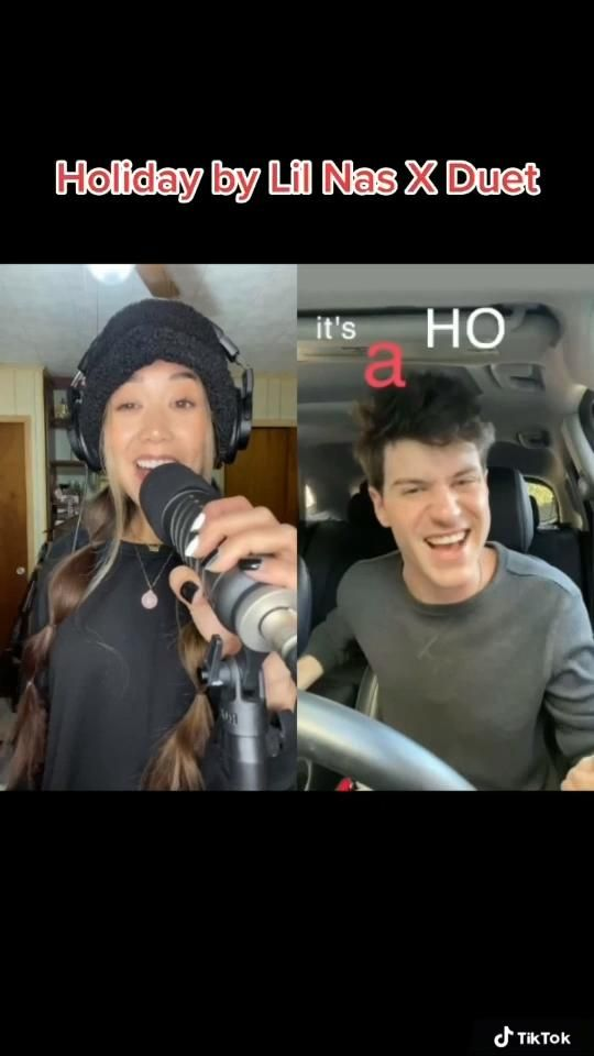 Holiday By Lil Nas X Tiktok Duet Video In 2021 Singing Time Singing Tips Singing Group