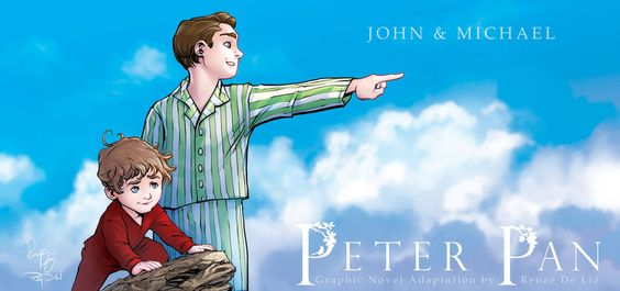 Peter Pan: The Graphic Novel - John and Michael by ~RenaeDeLiz on deviantART