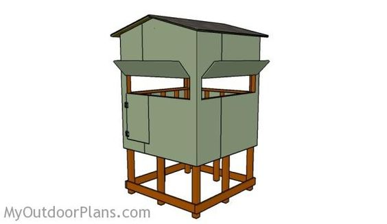 Elevated Deer Blind Plans | Free Outdoor Plans - DIY Shed, Wooden Playhouse, Bbq, Woodworking Projects