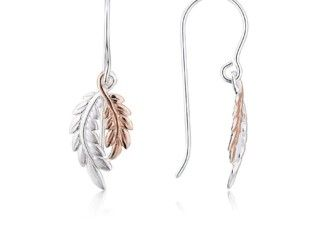 Argento Rose Gold & Silver Drop Leaf Earrings RRP £25.00 | Now £16.67 – Save 33% http://tidd.ly/b408f84a