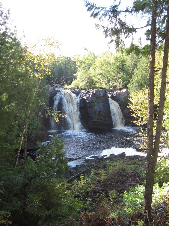 Lower Manitou Falls on the Black River in Pattison State Park, WI