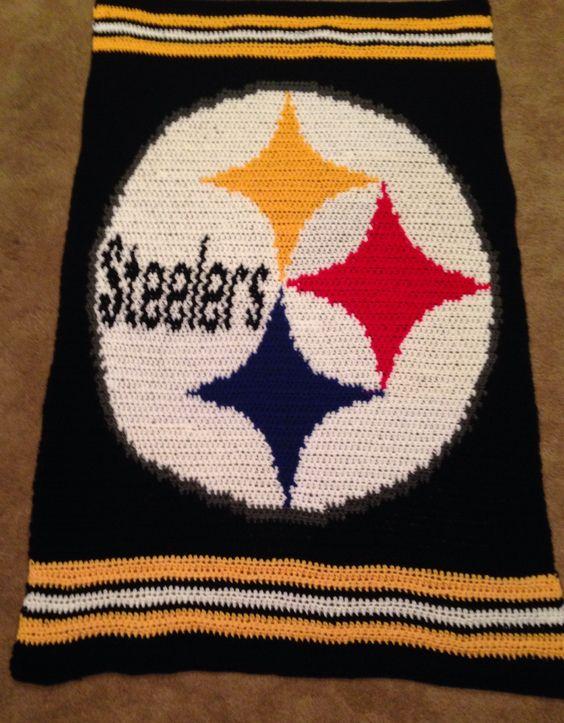 Crochet Pattern Steelers Afghan : Pittsburgh steelers, Pittsburgh and Blankets on Pinterest