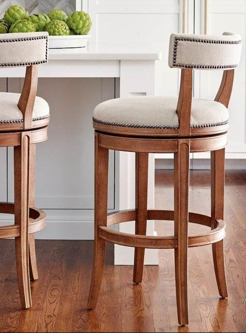 Henning Low Back Bar And Counter Stools Traditional Bar Stool