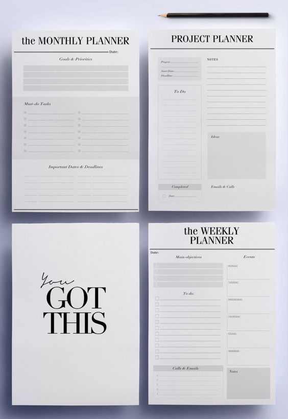 ULTIMATE Productivity To Do List Work von CrossbowPrintables