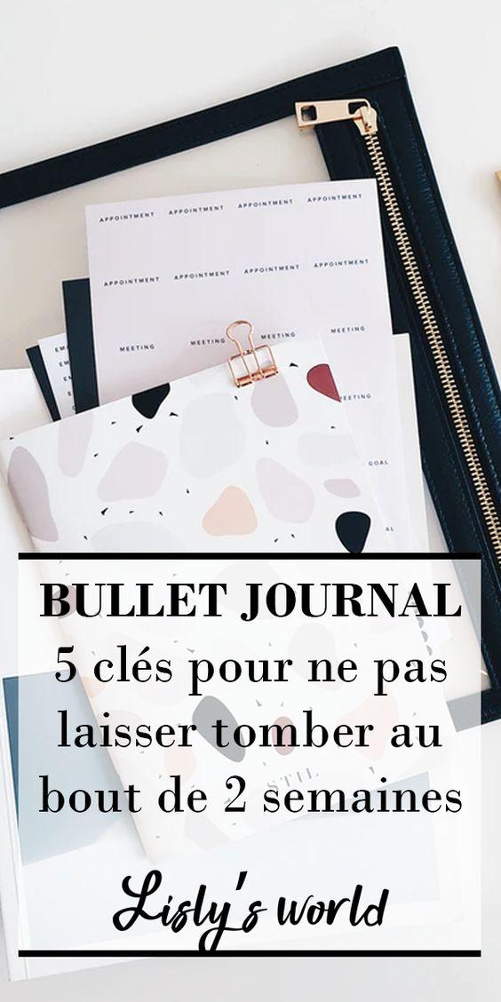 Démarrer un Bullet Journal… et ne pas l'abandonner !