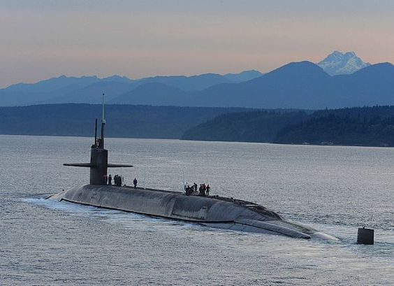 BANGOR Wash July The Ohioclass Ballisticmissile - Us submarine bases map submar