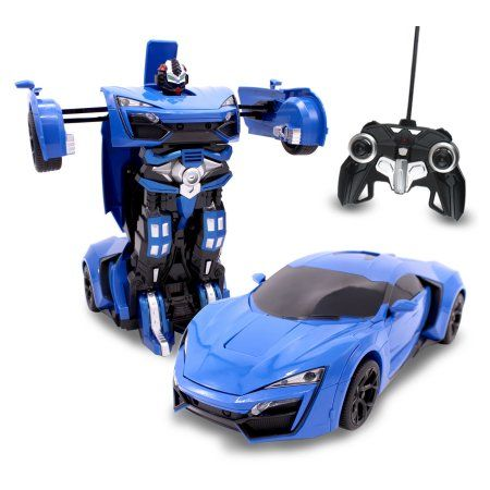 Rc Toy Transforming Robot Remote Control Sports Car 1 14 Scale Blue Rc Toys Super Sport Cars Sports Car