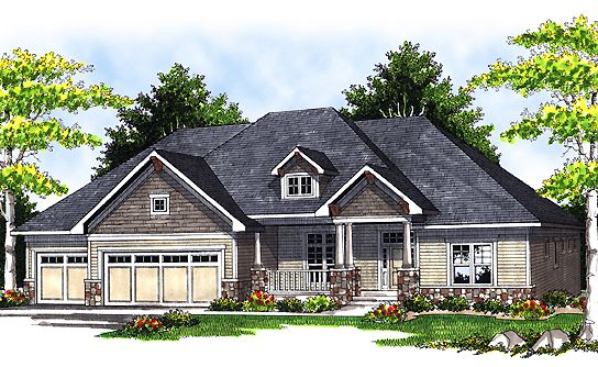 Walk out basement dream home plans pinterest house for Log home floor plans with garage and basement