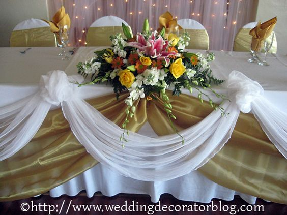 Head Table Decorations Wedding Reception Wedding Dress: Wedding Head Table Idea: You Could Do This With Burlap And