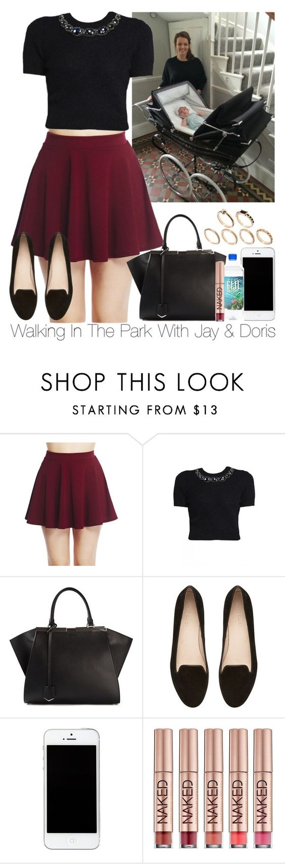"""Walking In The Park With Jay & Doris"" by storyofmylife1danita-scream ❤ liked on Polyvore featuring Wet Seal, Matthew Williamson, Fendi, Witchery, Urban Decay and ASOS"