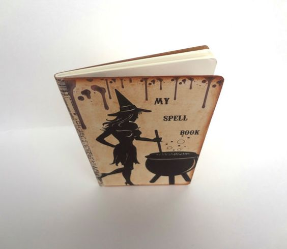 Witch Journal Halloween Spell Book Wiccan / Pagan by Istriadesign