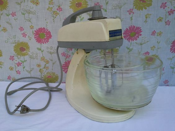 Vintage Westinghouse Cream Colored Stand Mixer by vintapod on Etsy, $65.85