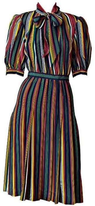I am not sure if is wear this but its cute reminds me of a candyshop dress Yves Saint Laurent, 1970s