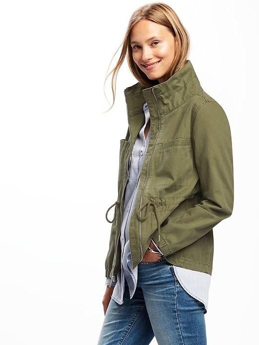 01ef5d63fc3 But dark khaki Twill Field Jacket for Women