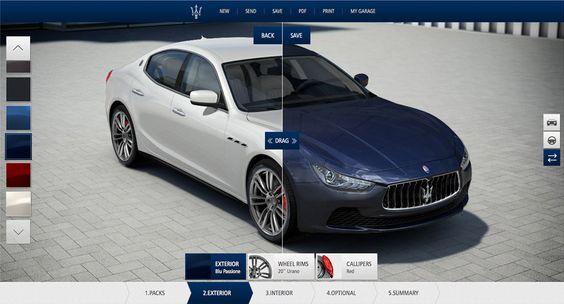 Sviluppo applicazioni web: Car Configurator Maserati | Portfolio fullDigi | FullDigi