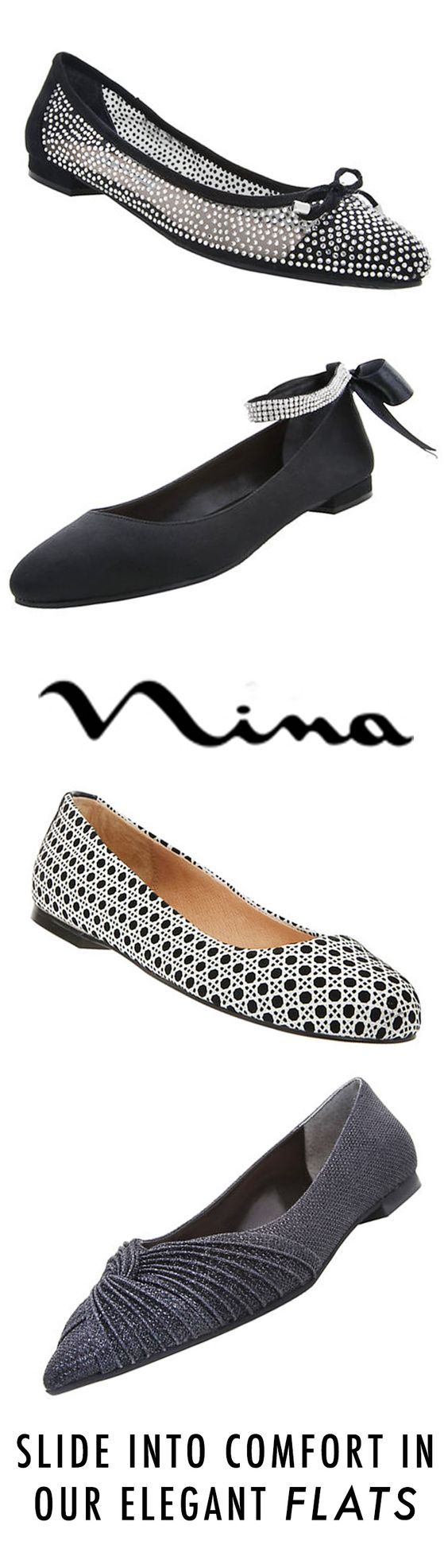 Slide into comfort in our Elegant Flats by Nina Shoes