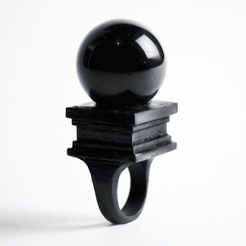 Black Orb Ring by Macabre Gadgets:
