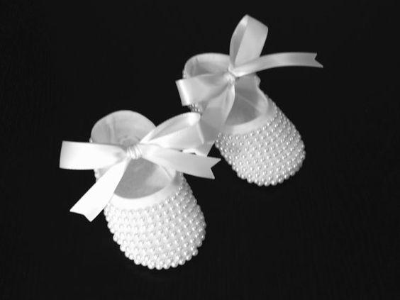 Ballerina del bambino perla Scarpe - Scarpe sposa - scarpe di battesimo - perla Baby - Baby Keepsake - regalo Keepsake neonato - bambino scarpe