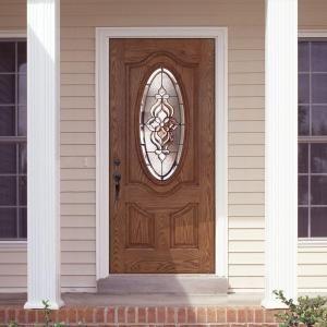 Fiberglass entry doors home depot and entry doors on pinterest - Home depot feather river door ...