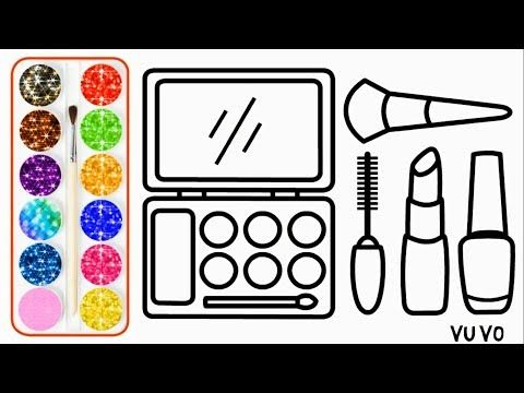 Youtube Coloring Pages For Kids Makeup Drawing Glitter Makeup