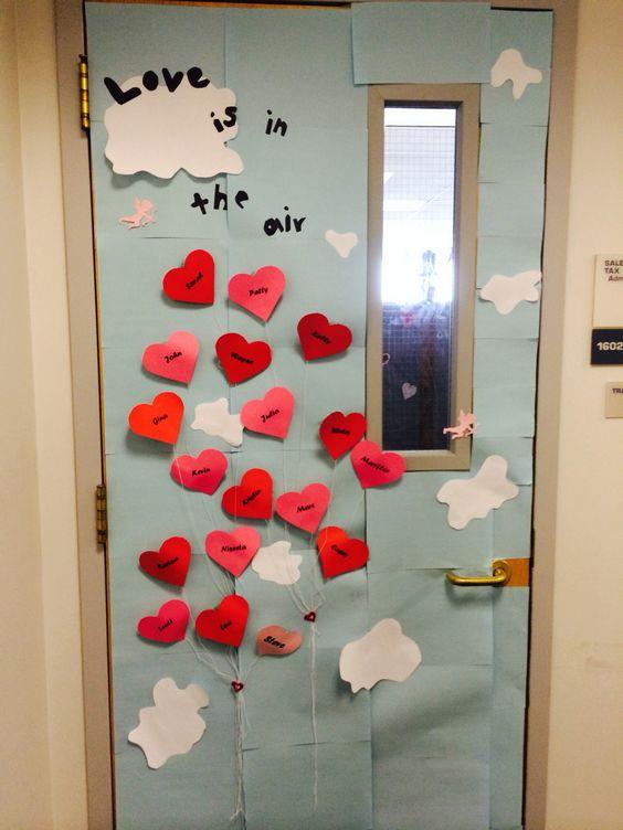 valentines office ideas. valentineu0027s day office door decoration each heart has an employeesu0027 name on it decor pinterest valentines ideas a