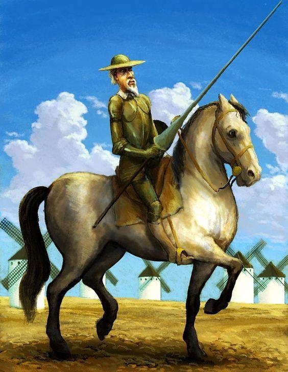 Don Quijote Entre Molinos De Viento En 2020 Con Imagenes Don