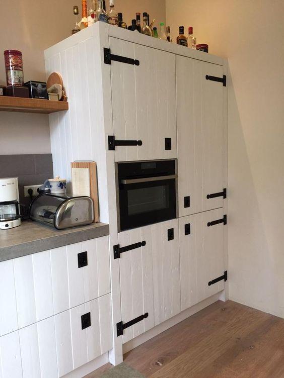 Wit gelakte sloophouten keuken. blijft mooi! #wittekeuken #wit ...