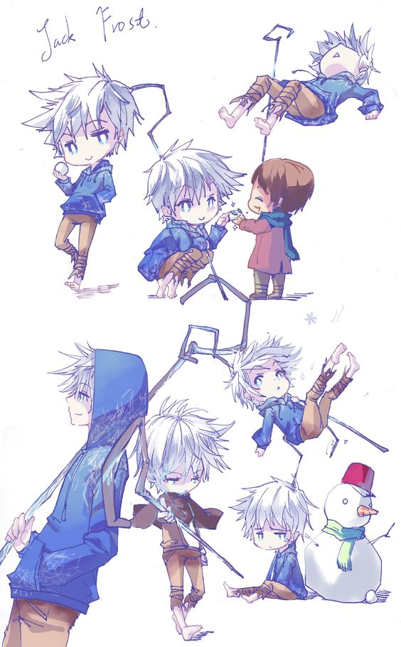Jack Frost, anime style. The snowman. It has a fez.