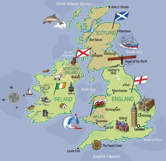 Risultati immagini per great britain map