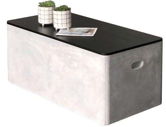 Beton Esstisch Gartentisch U Form Anthrazit 200x90 Cm Wohn Mobel Gartenmobel Esstisch