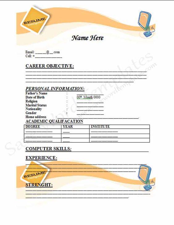 Blank Resume Application Form - http\/\/jobresumesample\/1558 - job application form template