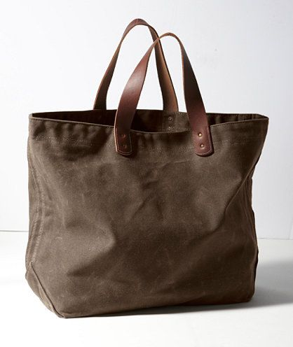 Waxed-Canvas Tote: BAGS | Free Shipping at L.L.Bean  Made in Maine.