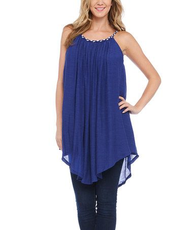 Look at this #zulilyfind! Royal Asymmetrical Sleeveless Tunic by Nouveau Monde #zulilyfinds