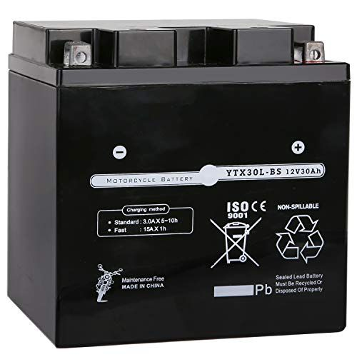 Maintenance Free High Performance ETX30L BS For Harley Davidson Polaris Sportsman Factory Sealed Weize YTX30L-BS Battery Replacement Yuasa YIX30L Motorcycle Battery