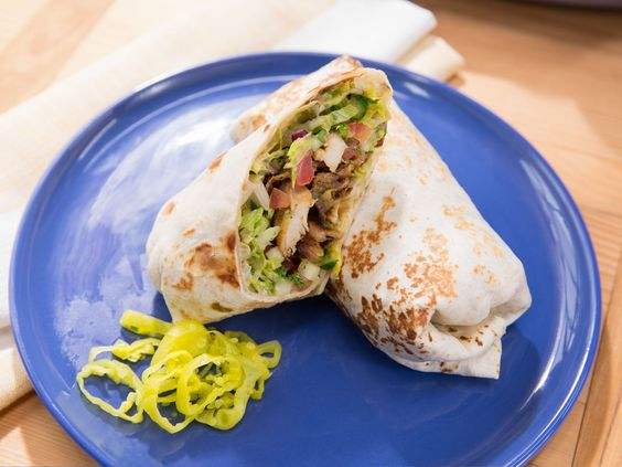 Chicken Shawarma Wrap recipe from Jeff Mauro via Food Network