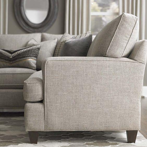 Custom Upholstered Medium L Shaped Sectional By Bassett Furniture