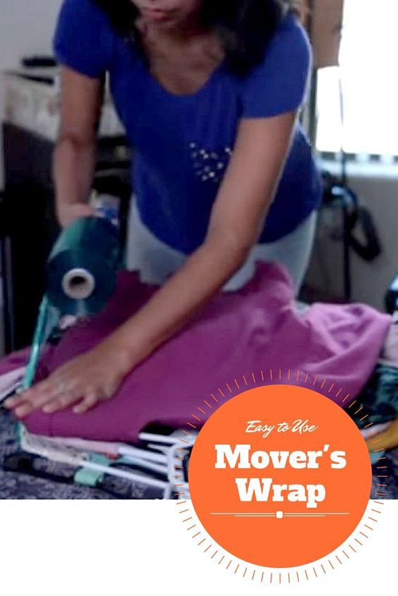 One of the easiest supplies to use when packing is Mover's Wrap.  It is simple to use and can be used to protect your makeup, keep your clothes on a hanger and keep many other things together during your move. I Packing for a Move