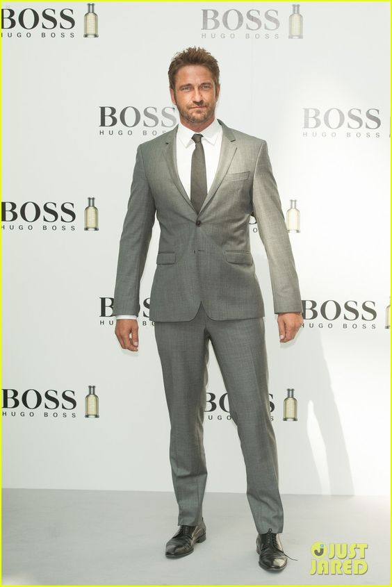 Gerard Butler Is Debonair in a Suit at the Boss Bottled Announcement Event!