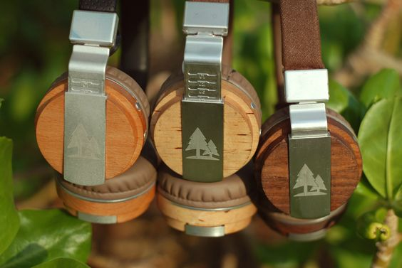 The natural beauty of wood is essential to our headphones