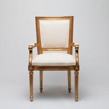Fabia Arm Chair Gold