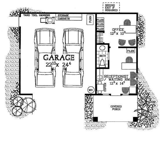 Cars home and garage design on pinterest for Garage plans with office
