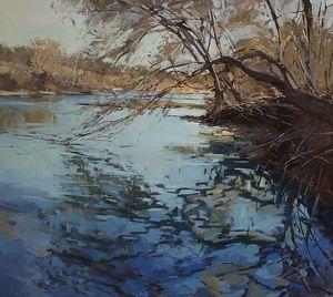 Texas Blues by Jill Carver Oil ~ 45 x 50